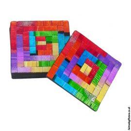 Set-of-6-Fair-Trade-Rainbow-Square-Mosaic-Coasters